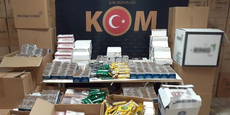İzmir'de 6 milyon lira değerinde kaçak sigara ve tütün geçirildi