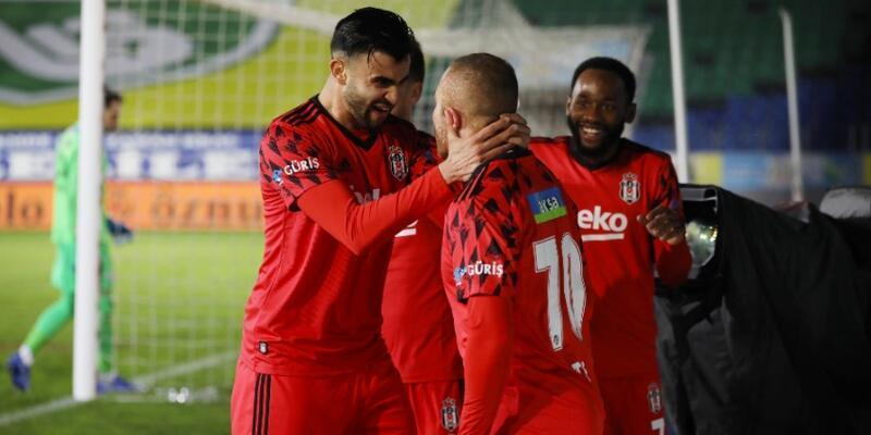 Lider Beşiktaş Rize'de kazandı