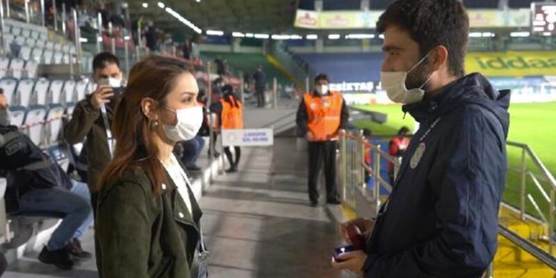 Rizespor-Beşiktaş maçında evlilik teklifi