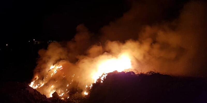 Kayseri'de eski taş ocağı arazisinde yangın!