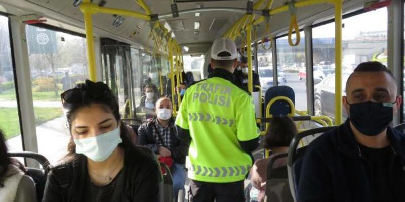 Toplu taşıma araçlarına koronavirüs denetimi