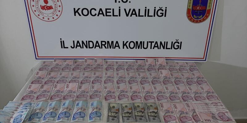 Gebze'de motosikletli, sahte para ile yakalandı