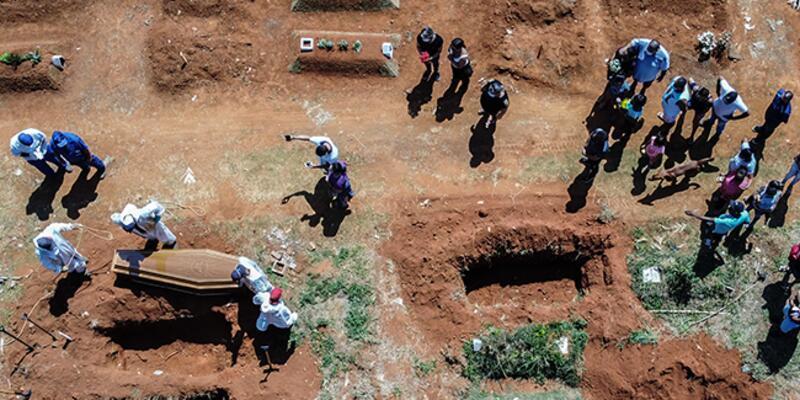 Brezilya'da Kovid-19 nedeniyle ölenlerin sayısı 400 bini geçti