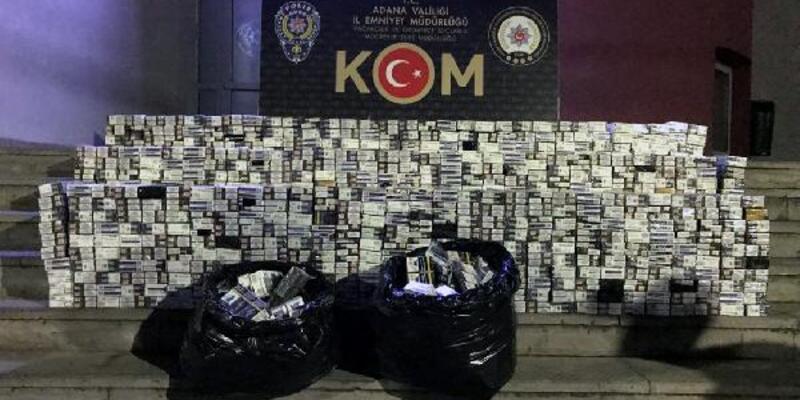 10 bin paket kaçak sigarayla yakalanan 2 kişi tutuklandı
