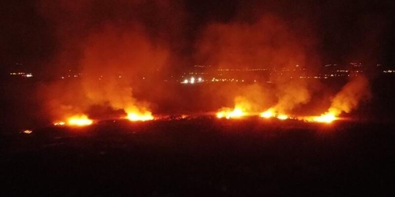 Koruma altındaki Ekşisu Sazlık Alanı'nda yangın