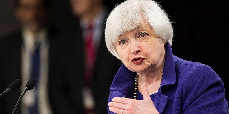 """ABD Hazine Bakanı Yellen, faiz artırımının """"öngördüğü ya da önerdiği"""" bir şey olmadığını söyledi"""