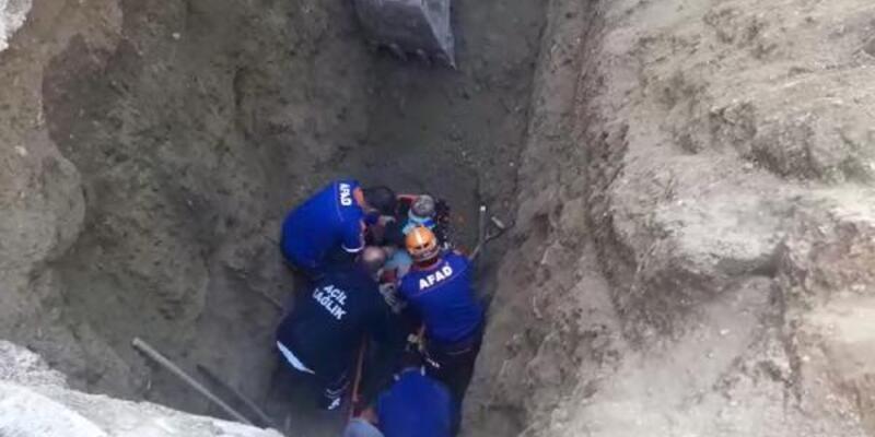 Kanalizasyon çalışmasında göçük: 1 işçi yaralı