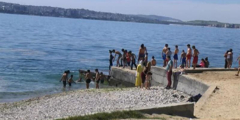 Sıcak hava bunalttı, denize koştular