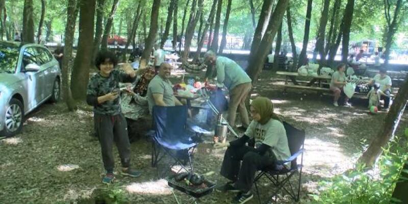 Tatili fırsat bilip Belgrad Ormanı'na akın ettiler