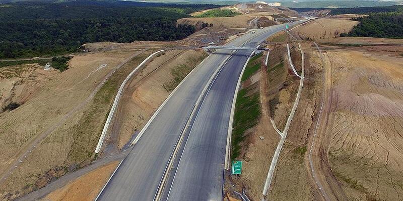 Kuzey Marmara Otoyolu'nun 7. kesiminin inşası tamamlandı