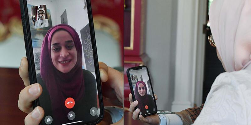 Filistin'de direnişin sembolü olmuştu! Emine Erdoğan, Mariam Afifi ile görüştü