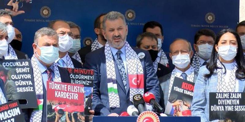 AK Parti'li vekillerden İsrail'e tepki