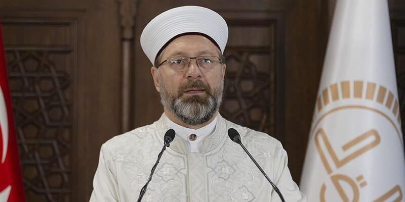 Diyanet İşleri Başkanı Erbaş: Cuma namazından önce bütün camilerde Kudüs için Kur'an-ı Kerim okunacak