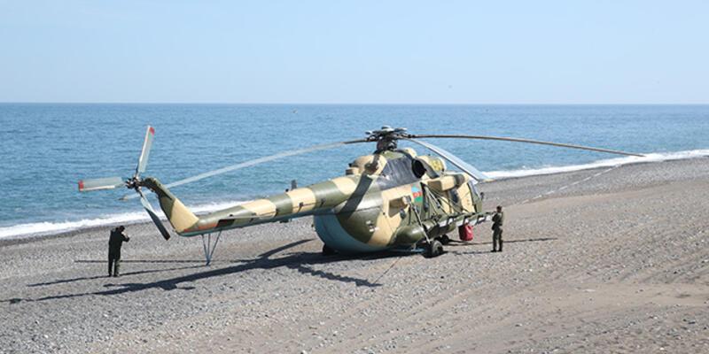 Azerbaycan helikopteri Giresun'a zorunlu iniş yaptı