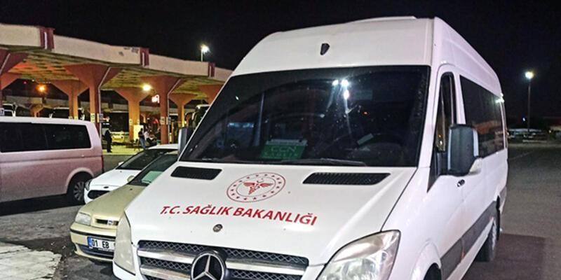 Sağlık Bakanlığı logolu minibüslekorsantaşımacılık yapan sürücüye para cezası