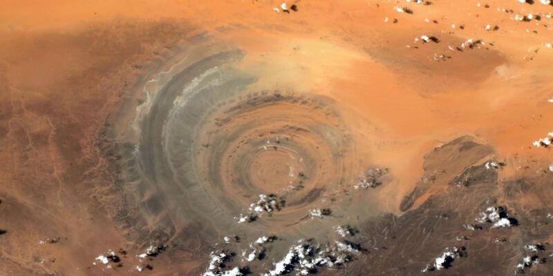 """Fransız astronot Pesquet, uzaydan paylaştı: """"Sahra'nın Gözü"""""""