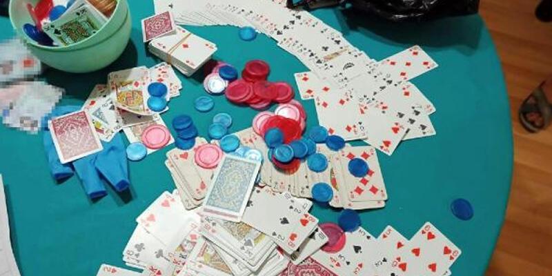 İtfaiye destekli kumar baskınında 18 kişiye, 78 bin lira ceza
