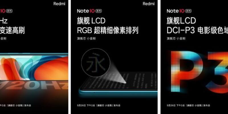 Redmi Note 10 serisi: 120Hz delikli ekranlı telefon