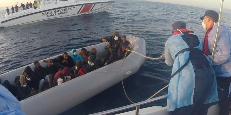 Dikili'de 21 kaçak göçmen kurtarıldı