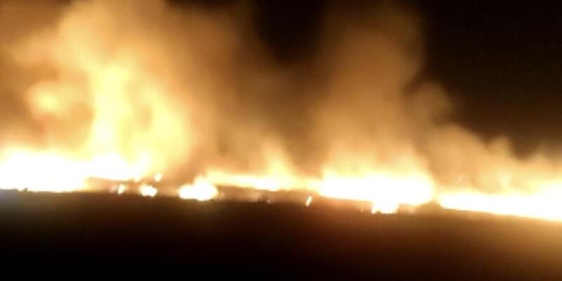 Diyarbakır'da bin 500 dönümlük arazide yangın