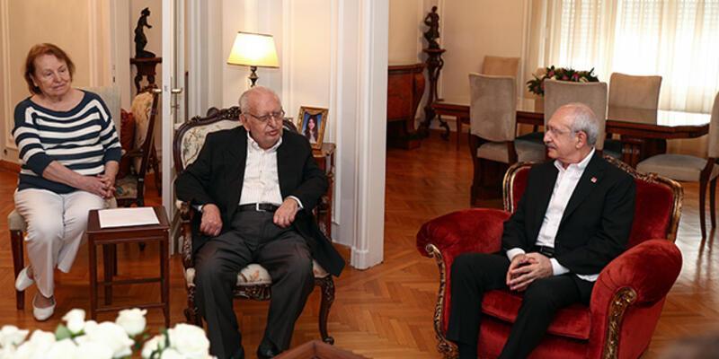 Kılıçdaroğlu, eski TBMM Başkanı Hüsamettin Cindoruk'u ziyaret etti