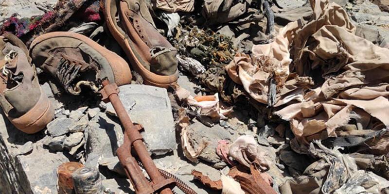 Hakkari'de terör örgütü PKK'ya ait silah ve mühimmat ele geçirildi
