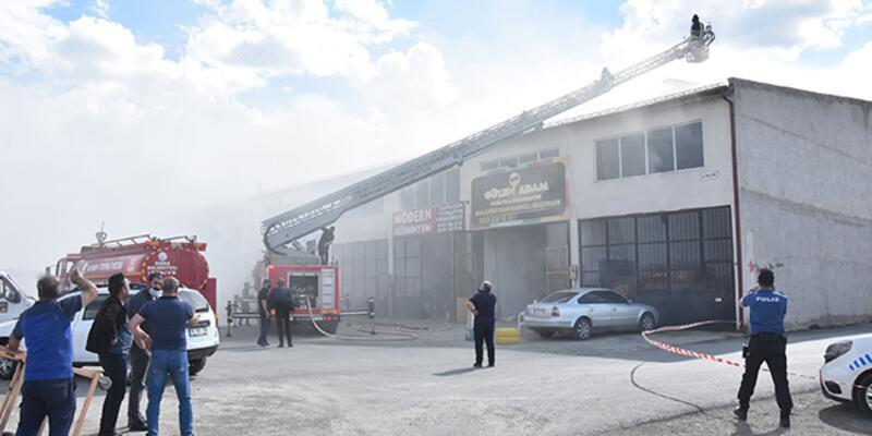 Sivas'ta, sanayi sitesinde yangın
