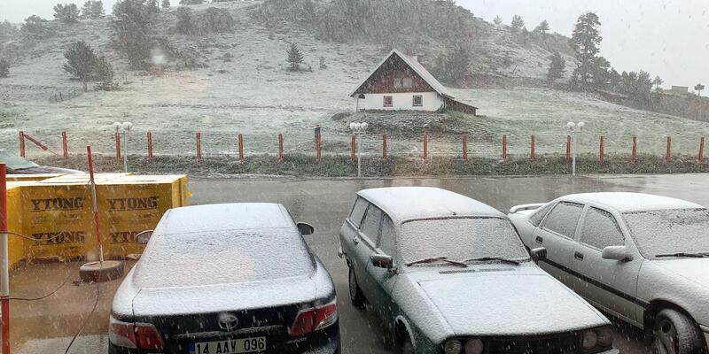 Bolu'ya haziran karı