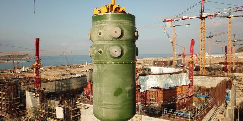 Akkuyu'da birinci ünitenin reaktör kabının montajı tamamlandı