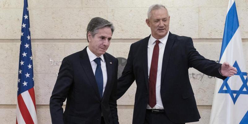 İsrail Savunma Bakanı Gantz Washington'da ABD Dışişleri Bakanı Blinken ile görüştü
