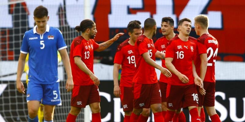 İsviçre'den Liechtenstein'a 7 gol