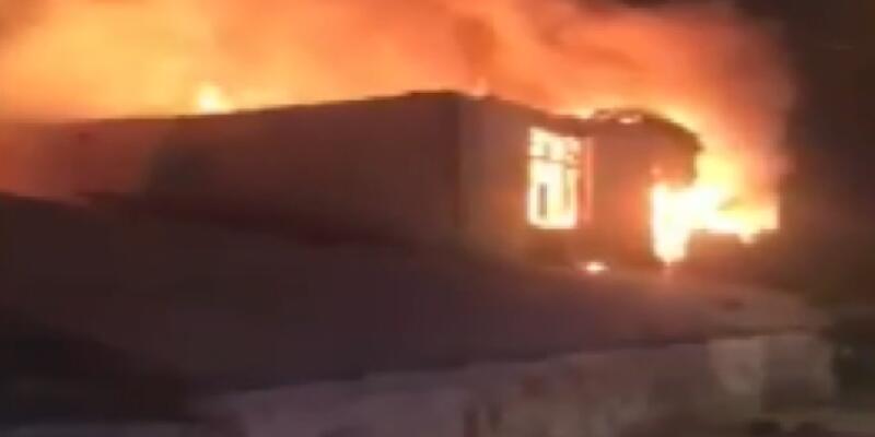 İstanbul'da çiftlikte yangın!