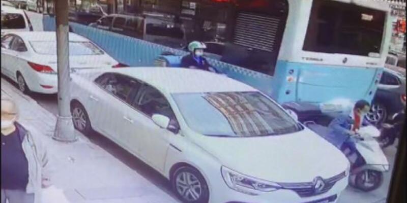 Şişli'de motosiklet hırsızlığı: Kendi aracıymış gibi binip gitti