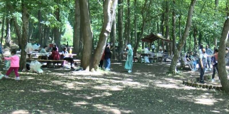 Belgrad Ormanı'nda cumartesi yoğunluğu