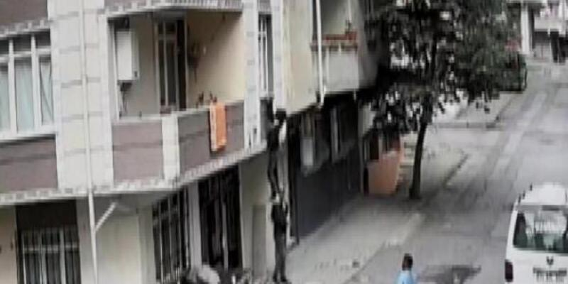 Bastığı kiriş kırılan hırsız 2 metreden aşağı düştü