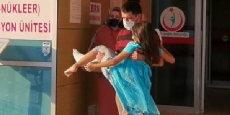 Torpilin patlaması sonucu 9 yaşındaki Berra yaralandı