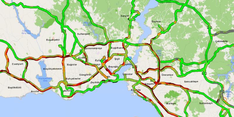 İstanbul'da trafik durma noktasına geldi! Yoğunluk yüzde 67'yi gördü