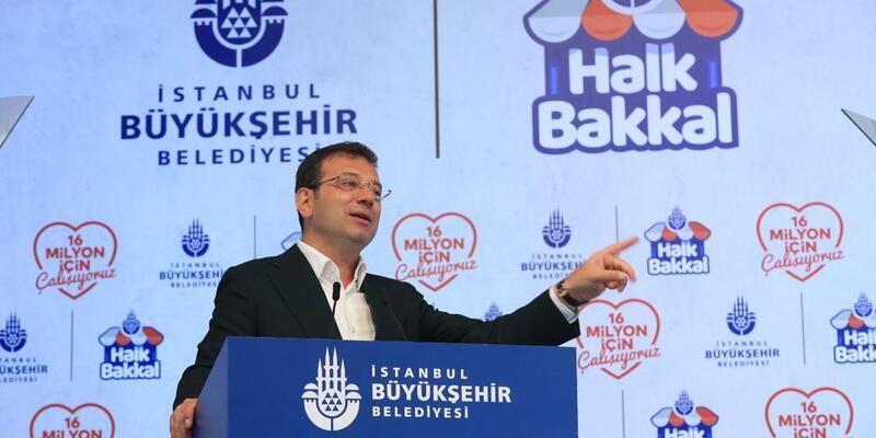İmamoğlu 'Halk Bakkal' projesini tanıttı