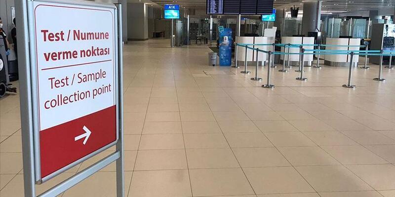 Havalimanlarında belli sayıda yolculara örnekleme temelinde PCR testi yapılacak