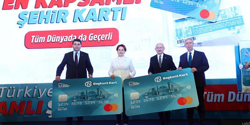 """Ankara Büyükşehir Belediyesinin """"Başkent Kart""""ı törenle tanıtıldı"""