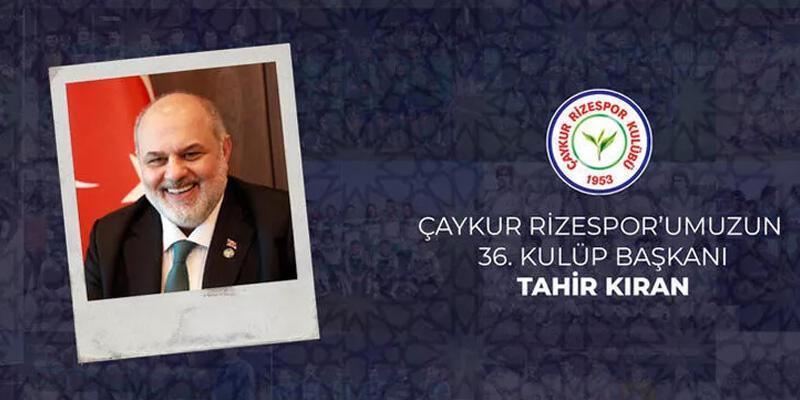 Son dakika... Çaykur Rizespor'un yeni başkanı Tahir Kıran oldu