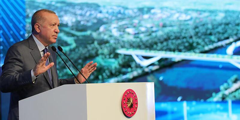 """Cumhurbaşkanı Erdoğan'dan """"Kanal İstanbul"""" paylaşımı"""