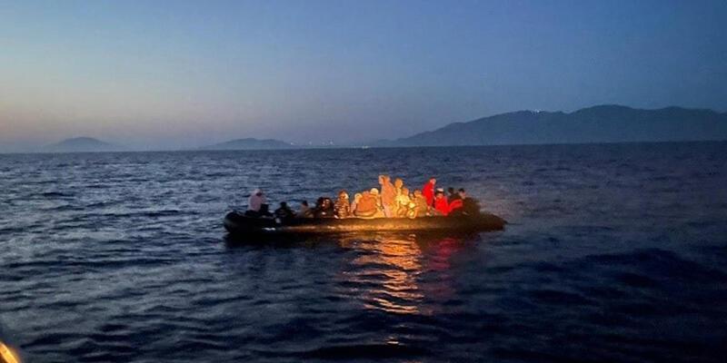 Bodrum açıklarında 33 düzensiz göçmen kurtarıldı