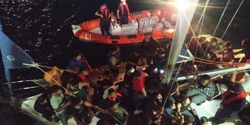 Çanakkale'de 59 kaçak göçmen yakalandı