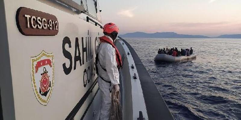 Kuşadası açıklarında 70 kaçak göçmen kurtarıldı