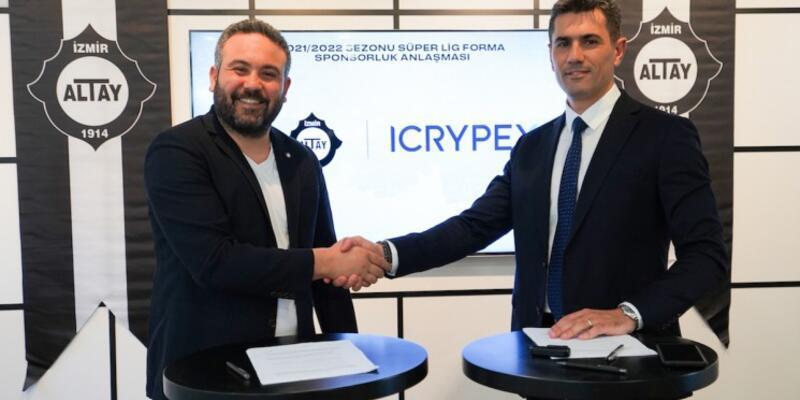 18 Yıl Sonra Süper Lig'e Yükselen Altay'ın Forma Kol Sponsoru ICRYPEX Oldu