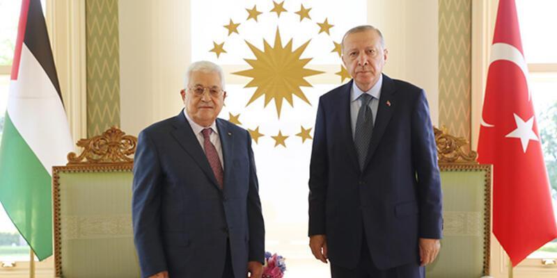 Cumhurbaşkanı Erdoğan ile Filistin Devlet Başkanı Abbas görüşmesi sona erdi