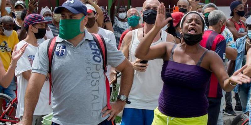 ABD'den Küba'daki göstericilere destek