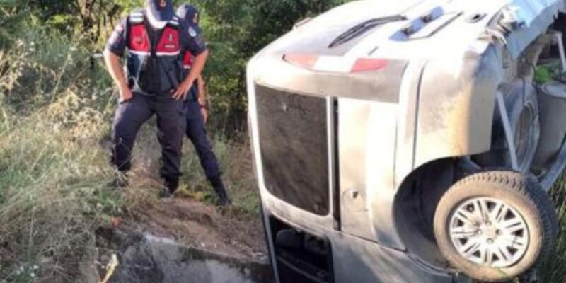 Kırklareli'de menfeze düşen hafif ticari araçtaki 2 kişi öldü