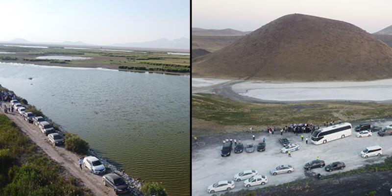TBMM Küresel İklim Değişikliği Araştırma Komisyonu, Akgöl Sazlığı ve Meke Gölü'nde inceleme yaptı